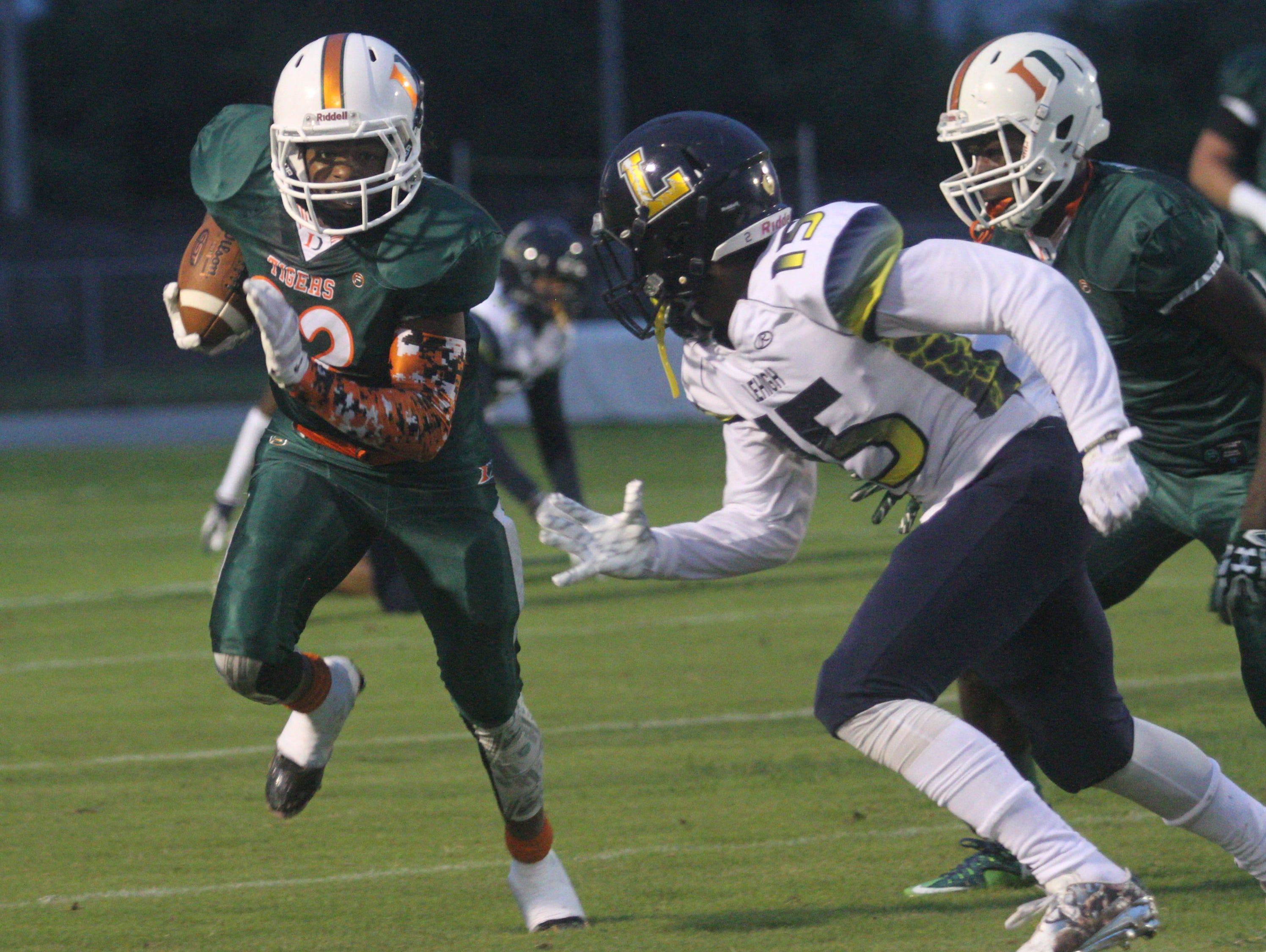 Dunbar takes on Lehigh in a high school football matchup on Friday night at Dunbar High School.