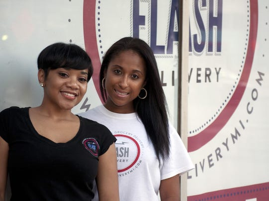 Ericka Billingslea and Tatiana Grant started the Flash Delivery to fill a need for downtown residents and workers.