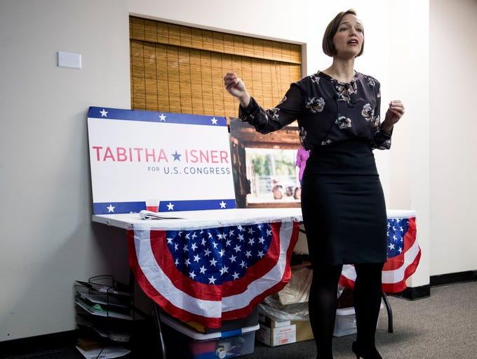 Tabitha Isner, who is running for U.S. Congress, speaks