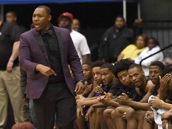 Columbus head coach Anthony Carlyle takes issue with