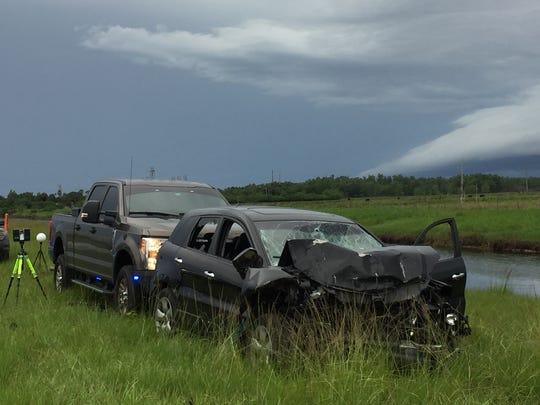 Deputies said the crash happenedon Pratt Whitney Road.