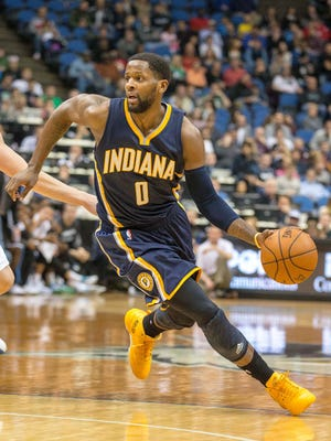 Pacers guard C.J. Miles scored a game-high 28 points in Indiana's win in Minnesota.