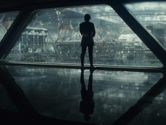 Kylo Ren (Adam Driver) is a lightsaber-wielding apprentice