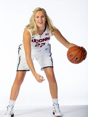 Guard Courtney Ekmark will make her debut for University of Connecticut after being home-schooled for her senior year of high school.