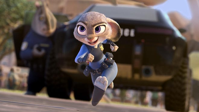 "Judy Hopps, voiced by Ginnifer Goodwin, is seen in ""Zootopia."""