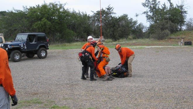 Two hikers were airlifted to safety over the weekend after running into some trouble during a hike outside Camp Verde.