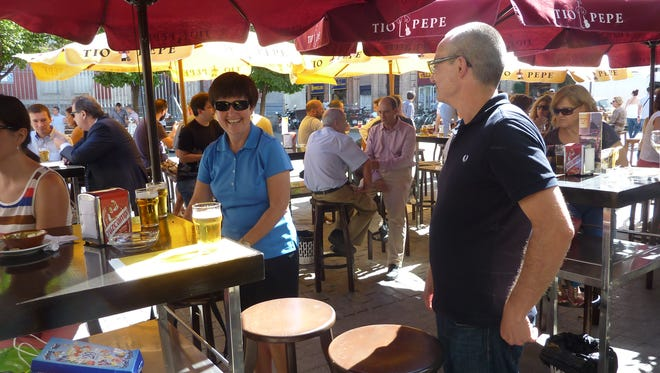 Visiting an authentic tapas bar was part of the fun on Janet McMaster's vacation in Spain.