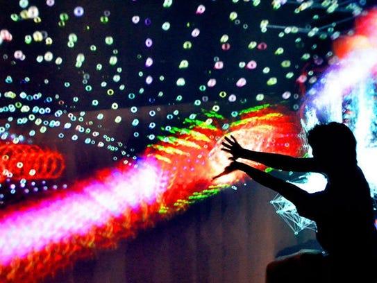 Interactive cubes of light.