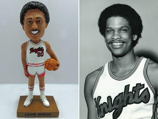 Eddie Jordan and his Rutgers-produced bobblehead.