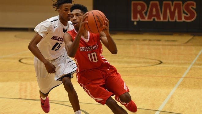 Quade Parks (10) and the Greenville Red Raiders will take on Laurens in the first round of the C. Dan Joyner Poinsettia Classic Tuesday night.
