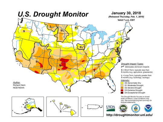 Us Drought Map Drought in United States at worst level in nearly four years Us Drought Map