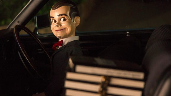 Slappy (voiced by Jack Black) is the head villain who unleashes monsters on an unsuspecting town in 'Goosebumps.'