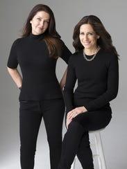 'The Wife Between Us' authors Sarah Pekkanen, left,