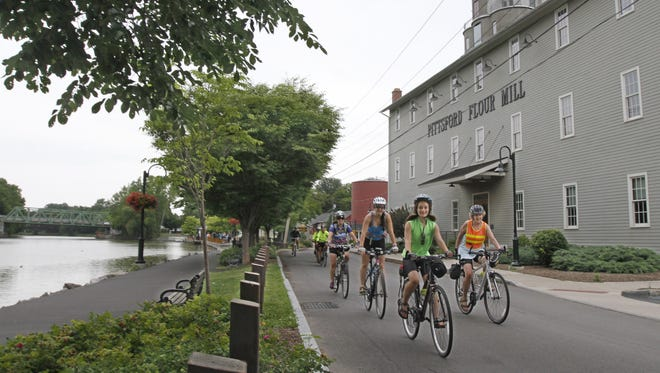 The Erie Canal at Schoen Place in Pittsford.