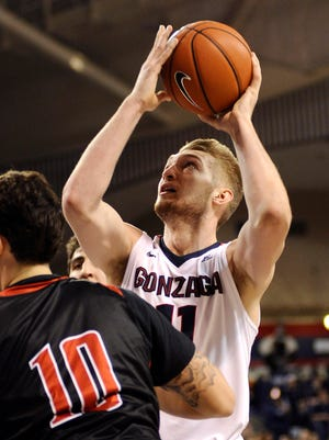 Domantas Sabonis had a game-high 21 points and 13 rebounds for Gonzaga.