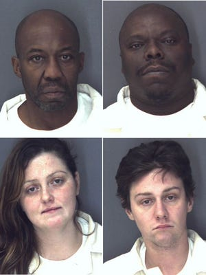 Top row: Robert Haskell, left, and Timothy Smith; bottom row: Courtney Clemenza, left, and Seth Pelsang
