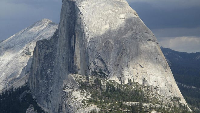 This August 2011 file photo shows Half Dome and Yosemite Valley in a view from Glacier Point at Yosemite National Park.