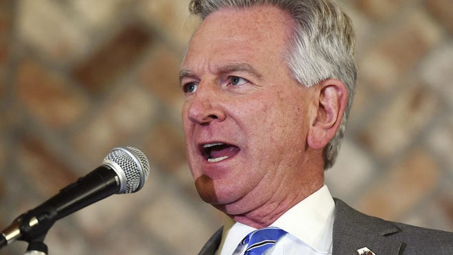 Alabama U.S. Senate candidate Tommy Tuberville, speaking in this file photo to his supporters at Auburn Oaks Farm in Notasulga on March 3, defeated Jeff Sessions in the U.S. Senate Republican primary on Tuesday. He will face incumbent Sen. Doug Jones, a Democrat, in November's general election.