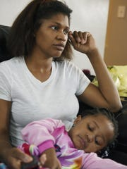 Tanisha Smith's daughter Cadence, 2, tested positive