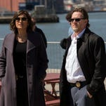 Mariska Hargitay, left, and Donal Logue play police investigators in a 'Law & Order: SVU' episode.