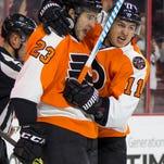 Voracek scores twice, Flyers beat Hurricanes 6-3