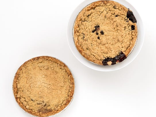 Blueberry Crumb and Apple Crumb Pie from The Barn in