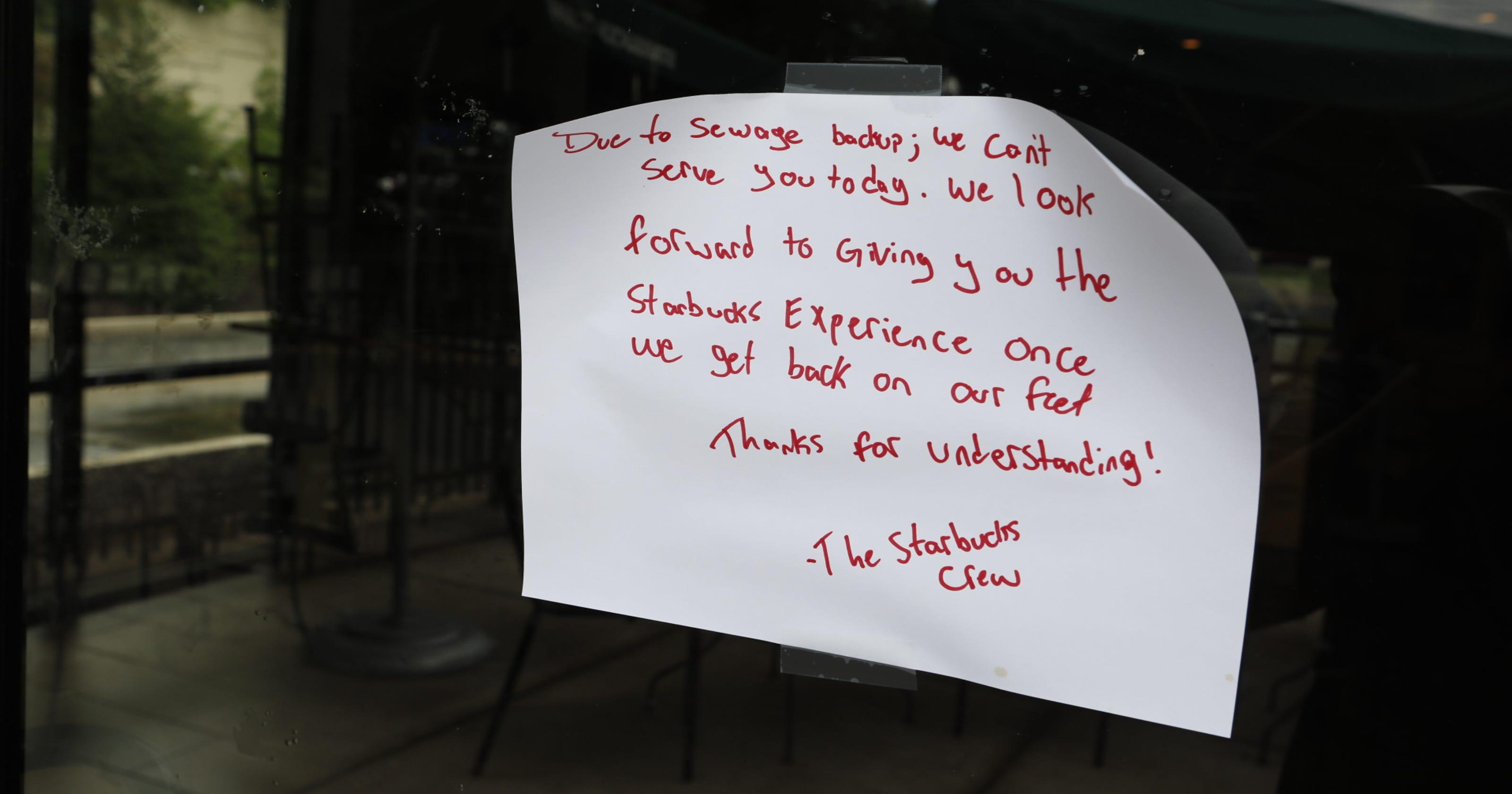 Sewage spill closes Cortlandt Starbucks