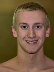 Jacob Greenwood, CASHS swimmer, 2015