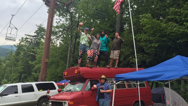 Concertgoers celebrate at the annual Taste of Country music festival on Saturday at Hunter Mountain.