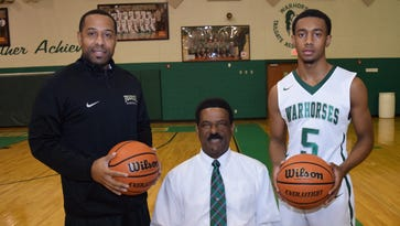 Peabody basketball coach Charles Smith, right, is in charge of a Warhorse team that is a contender for the LHSAA Class 3A crown.