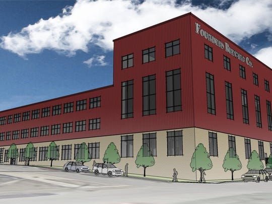 A rendering of the proposed expansion. The company is expanding its property on Grandville Avenue SW in Grand Rapids, investing $40.4 million and creating 72 jobs. Founders now sells beer in 32 states, mostly in the eastern half of the U.S.