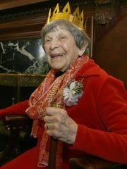 "Activist Doris ""Granny D"" Haddock smiles during a celebration"