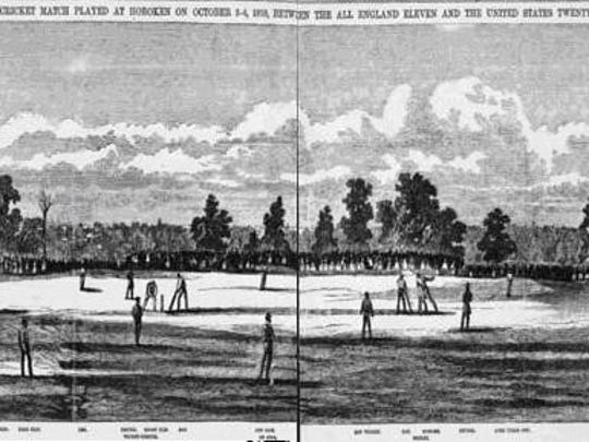 Elysian Fields in Hoboken was the site of many a cricket match.