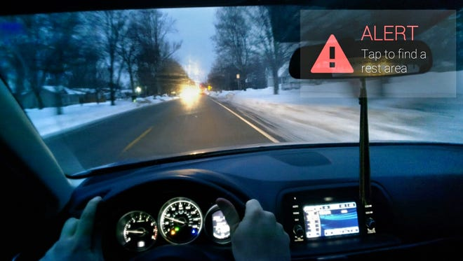 DriveSafe is an app for Google Glass that alerts drivers visually and audibly when they are getting drowsy.