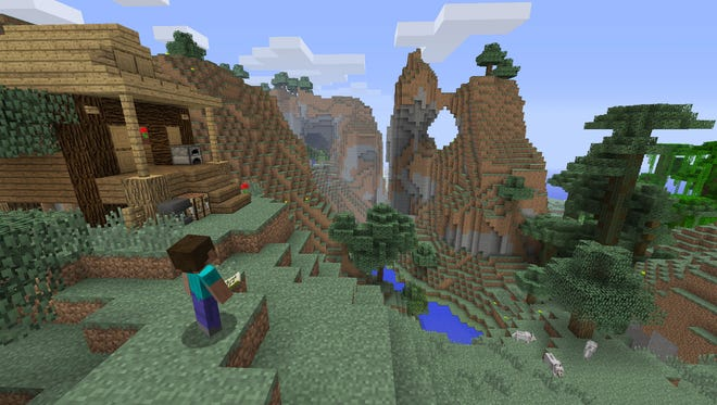 A scene from the sandbox game 'Minecraft' for the Xbox One.