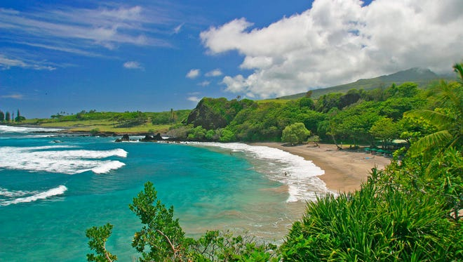 "Hamoa Beach in Maui, Hawaii. Hamoa Beach is fifth on the 2014 list of Top 10 Beaches produced annually by coastal expert Stephen P. Leatherman, also known as ""Dr. Beach,"" director of Florida International University's Laboratory for Coastal Research."