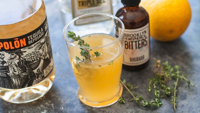 A Summer Rain, a drink made with rhubarb bitters.