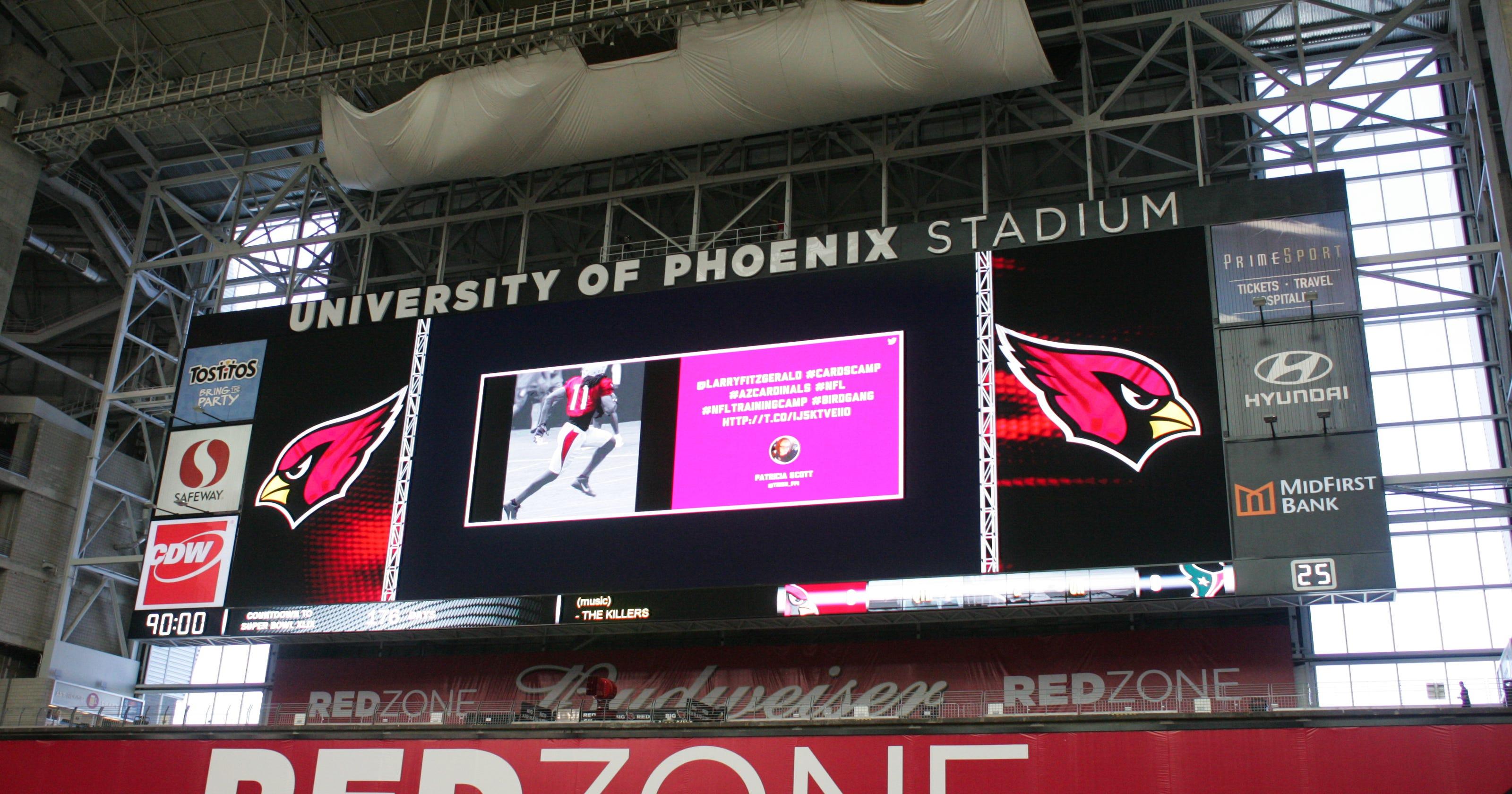 University of Phoenix Stadium gets new big screens 4435793daf5cd