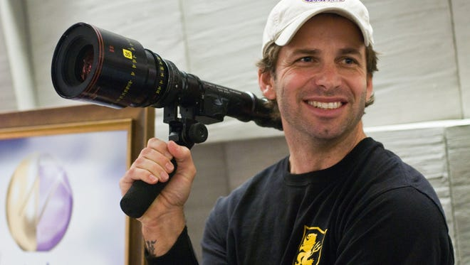 Director Zack Snyder is shown on the set of Warner Bros. Pictures.