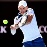 Novak Djokovic won in his return from injury as one of three former champions on the court.