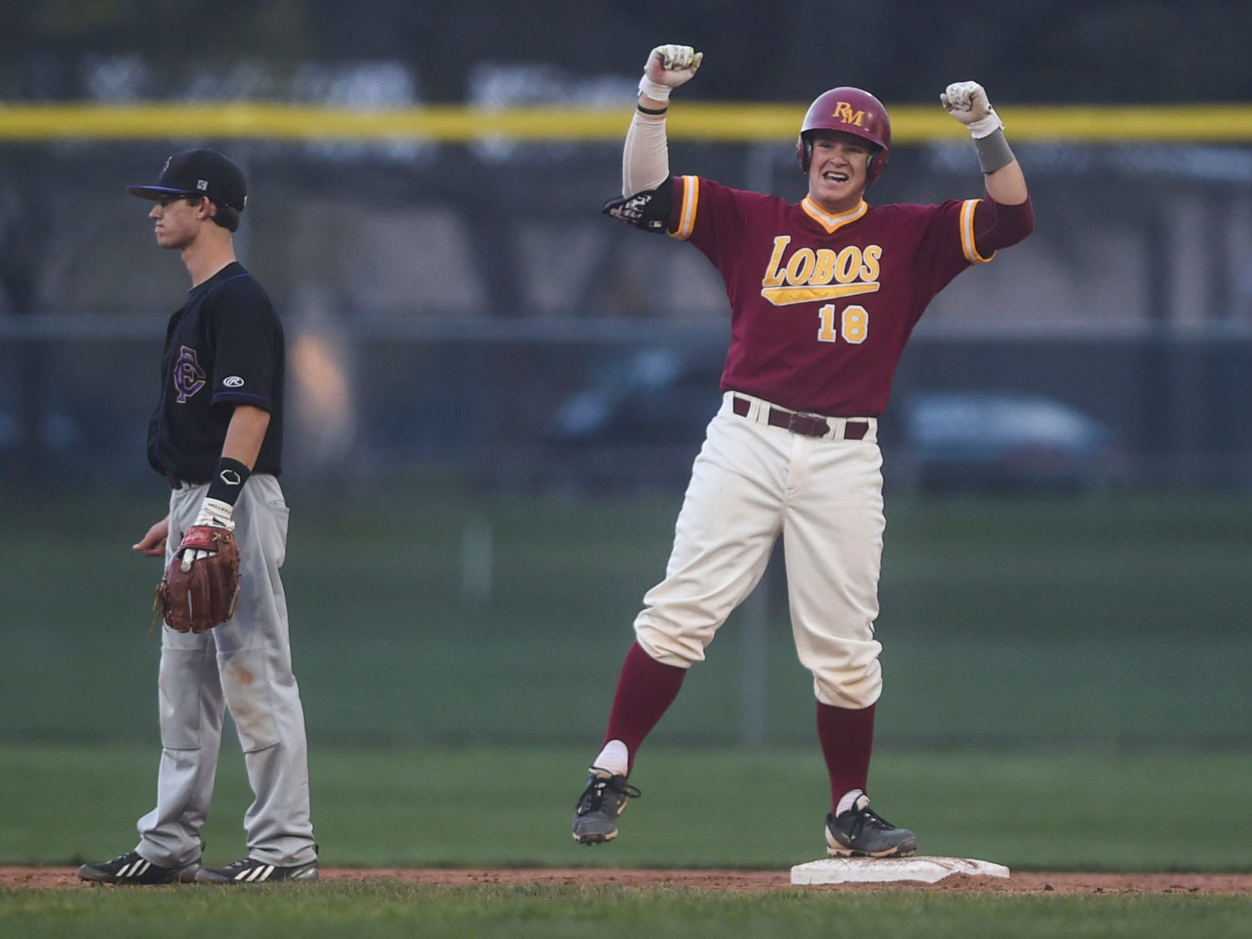 Rocky Mountain's Garrett Hammer is fifth among area baseball players in RBI and fourth in home runs and the Lobos are No. 1 in the final Associated Press media poll of the season.
