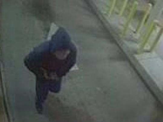 Suspect in a Wednesday night robbery at an ATM outside