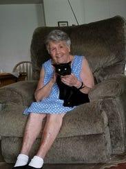 Fiona and Lillian Mackey are happy at home.
