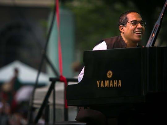 The Danilo Perez Trio performs at the 2017 Clifford Brown Jazz Festival.