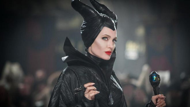 """Angelina Jolie as the evil queen """"Maleficent."""""""