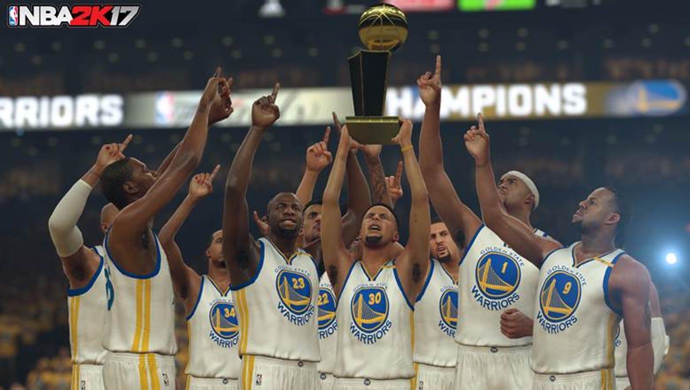 NBA 2K17 Finals simulation: Warriors win, Kevin Durant crowned MVP