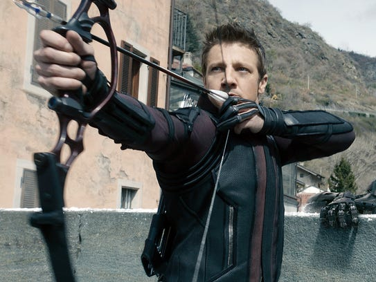 "Seen here in ""Avengers: Age of Ultron,"" super-archer"
