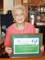 Kathy Krupski was selected as second-quarter HFM Inspired Caring Award recipient.