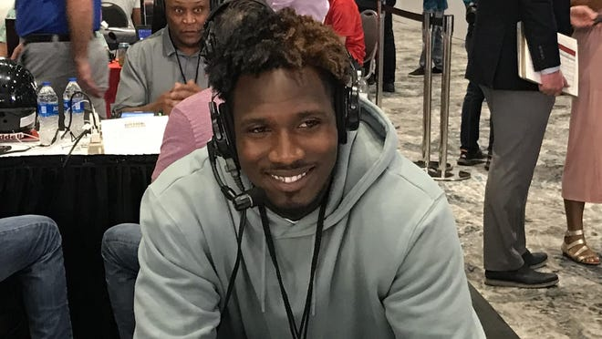 Miami Dolphins receiver Preston Williams made an appearance Wednesday afternoon on Radio Row at the Miami Beach Convention Center.