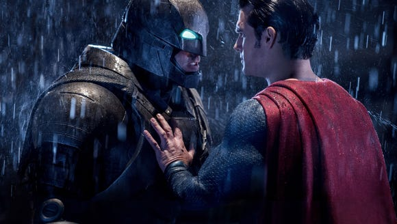 It's an epic battle for Ben Affleck and Henry Cavill in 'Batman v Superman: Dawn of Justice.' (Photo: Clay Enos, Warner Bros.)